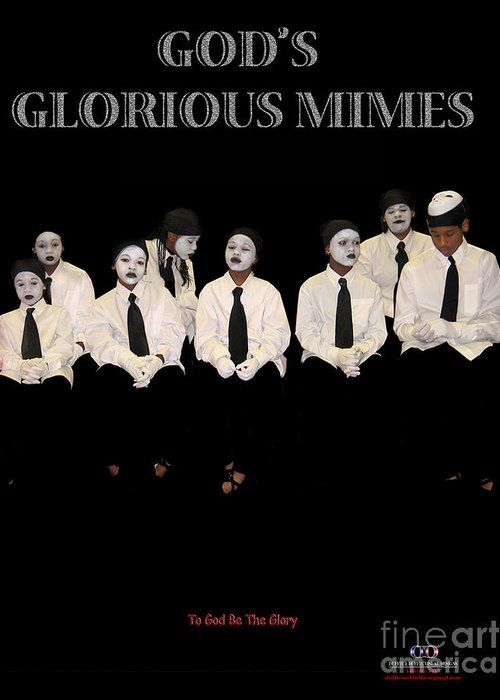 Young Mimes Waiting To Perform For God Greeting Card featuring the photograph God by Reggie Duffie