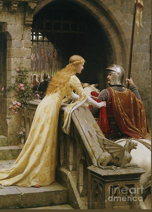 God Speed Greeting Card featuring the painting God Speed by Edmund Blair Leighton