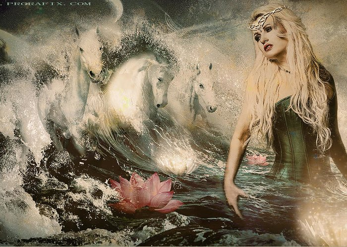 Goddess Greeting Card featuring the photograph Goddess Of Bliss by Gela Ghaderi