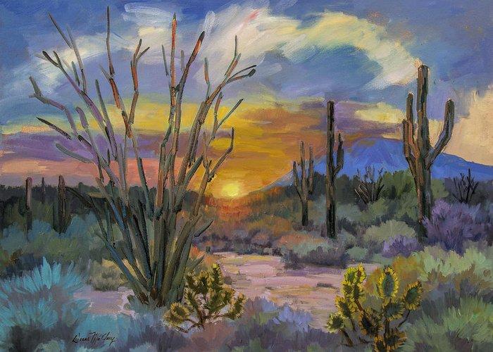 Desert Sunset Greeting Cards