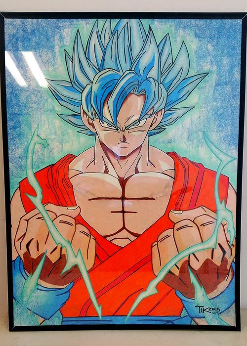 Goku Supersaiyan God 2 Greeting Card