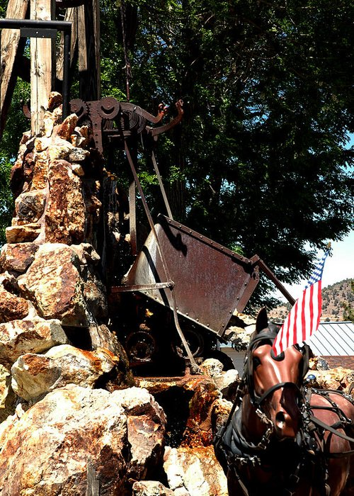 Usa Greeting Card featuring the photograph Gold Mining Virginia City Nv by LeeAnn McLaneGoetz McLaneGoetzStudioLLCcom