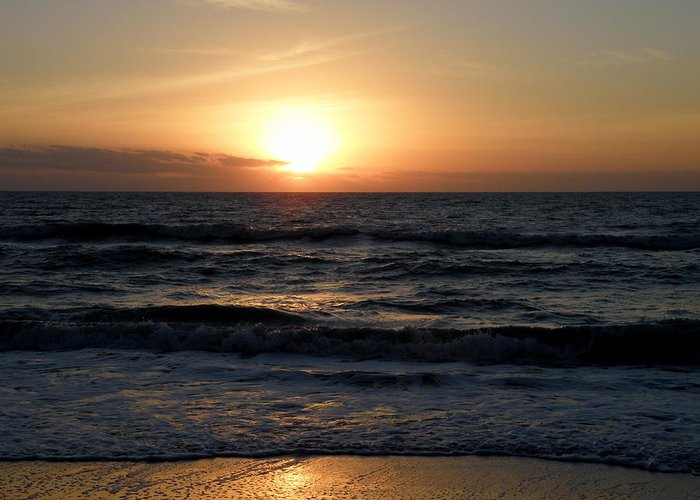Sunset Greeting Card featuring the photograph Golden Beauty by Mary Hurst