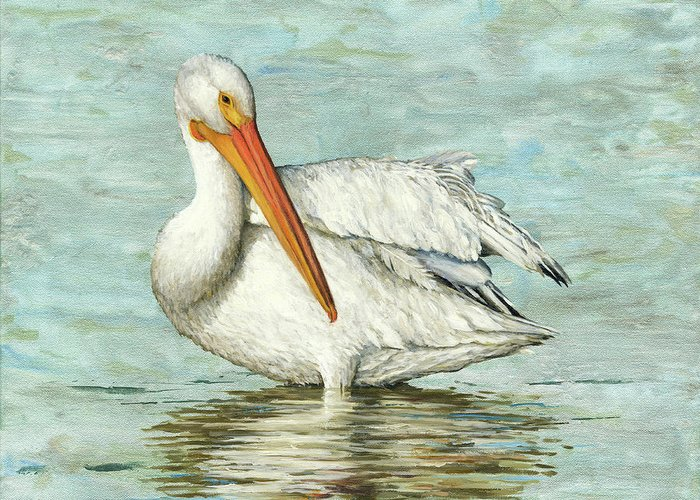 Bird Painting Greeting Card featuring the painting Golden Bill by Carol McArdle