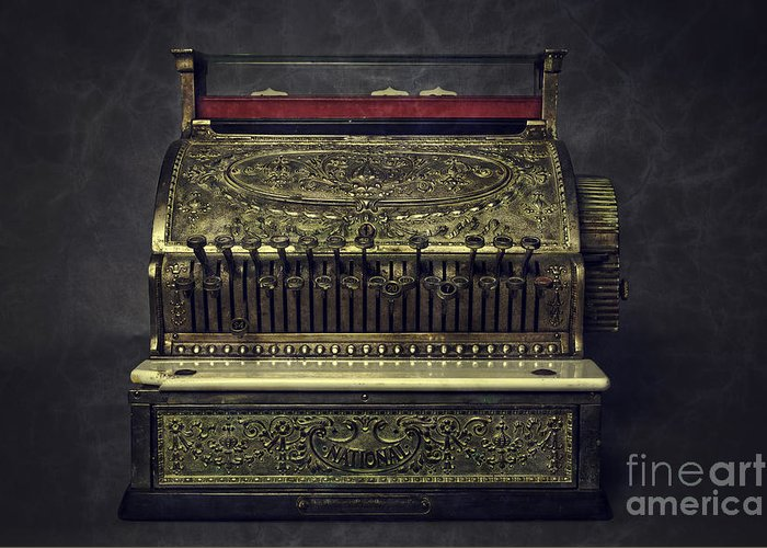Vintage Cash Register Greeting Cards