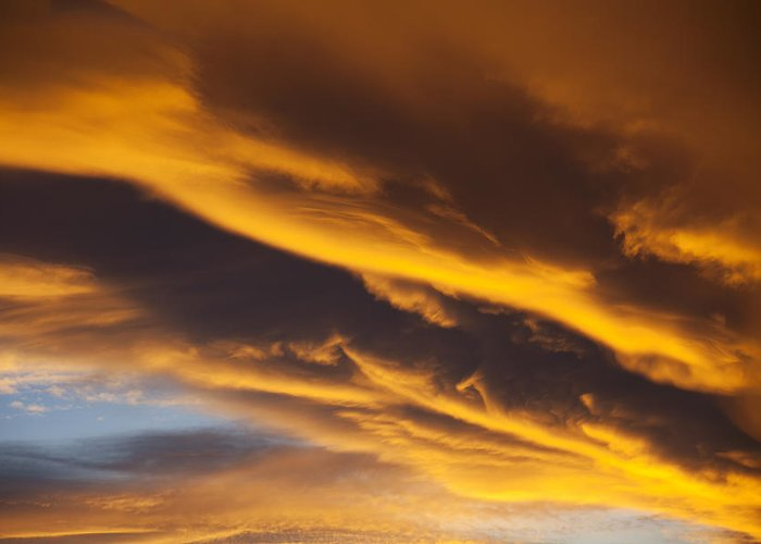 Golden Greeting Card featuring the photograph Golden Clouds by Garry Gay