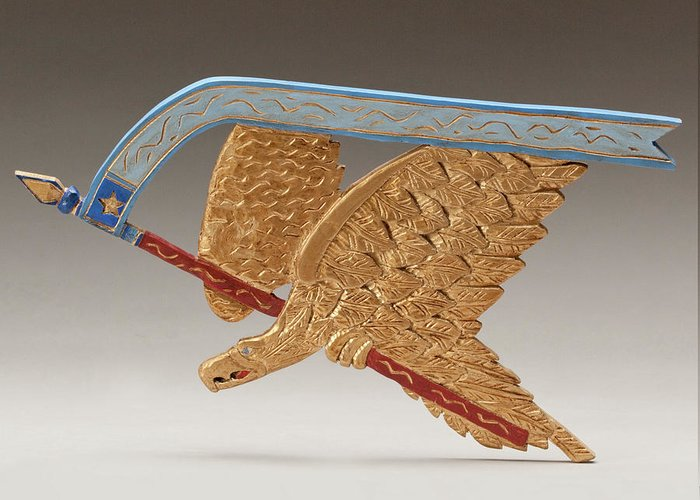Golden Eagle Greeting Card featuring the sculpture Golden Eagle by James Neill