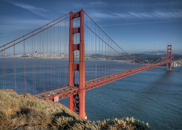 Architektur Greeting Card featuring the photograph Golden Gate by Andreas Freund