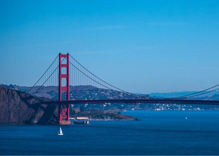 San Francisco Greeting Card featuring the photograph Golden Gate Bridge by Chris Tobin