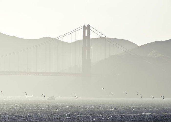 Golden Gate Bridge Greeting Card featuring the photograph Golden Gate Bridge by Paul Plaine