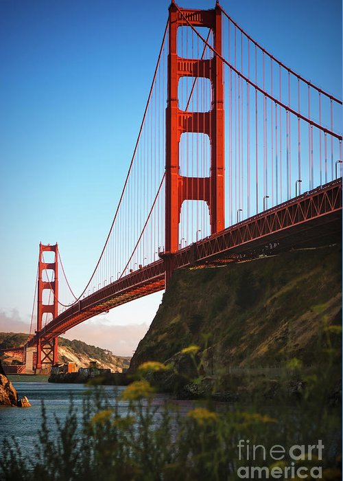 Sfo Greeting Card featuring the photograph Golden Gate Bridge Sausalito by Doug Sturgess