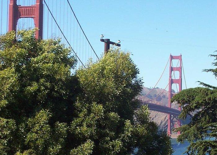 Golden Gate Bridge Greeting Card featuring the photograph Golden Gate by Elizabeth Klecker