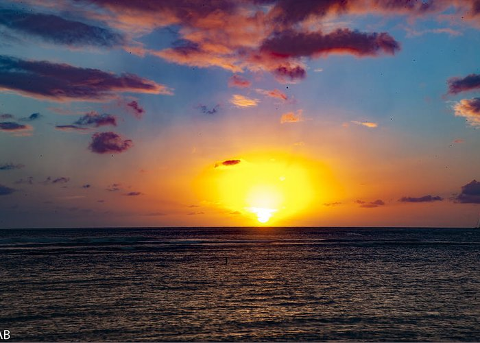 Sunset Greeting Card featuring the photograph Golden Hour by Austin Bennett