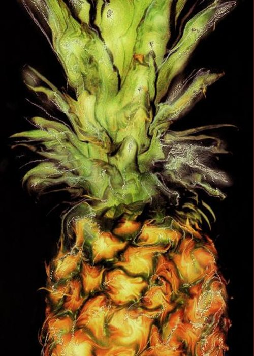 Paul Tokarski Greeting Card featuring the photograph Golden Pineapple by Paul Tokarski