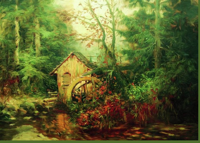 Autumn In The Country Mixed Media Greeting Cards