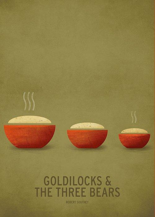 Stories Digital Art Greeting Card featuring the digital art Goldilocks and the Three Bears by Christian Jackson