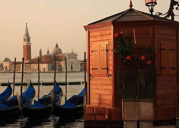 Venice Greeting Card featuring the photograph Gondal Station At San Marco by Michael Henderson
