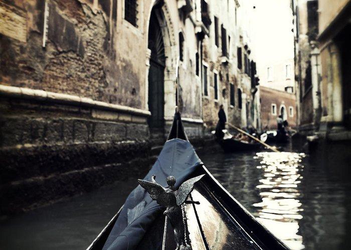 San Marco Greeting Card featuring the photograph gondola - Venice by Joana Kruse