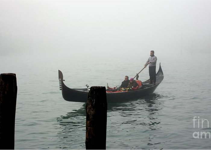 Italy Greeting Card featuring the photograph Gondola In The Fog by Michael Henderson