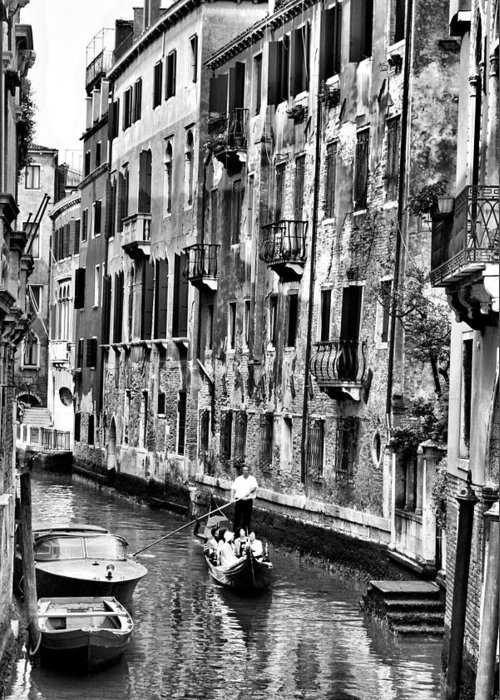 Venice Greeting Card featuring the photograph Gondola Ride In Venice by Greg Sharpe
