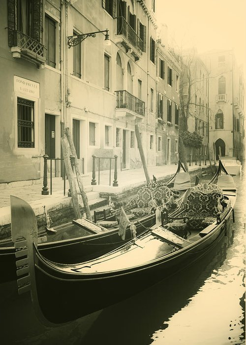 Gondola Greeting Card featuring the photograph Gondolas by Joana Kruse