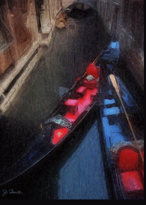 Gondolas Greeting Card featuring the photograph Gondolas by Joe Bonita