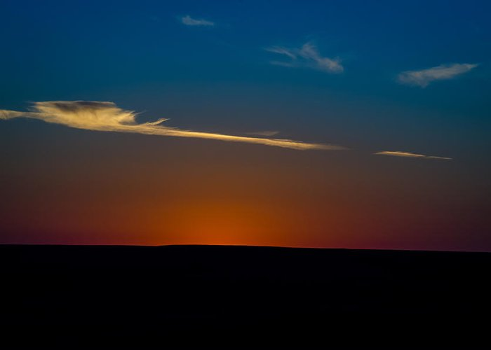 Sunset Greeting Card featuring the photograph Gone But Not Forgotten by Jeff Phillippi
