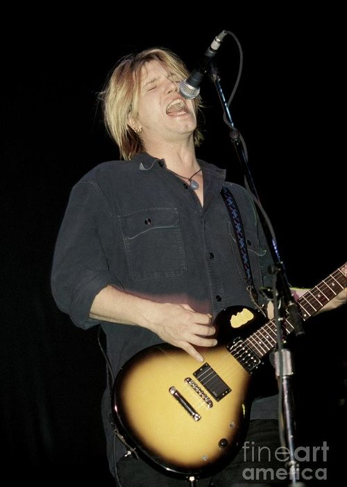 Guitarist Greeting Card featuring the photograph Goo Goo Dolls John Rzeznik by Concert Photos