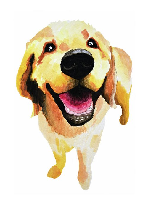 Dog Greeting Card featuring the painting Good Boy by Amy Giacomelli
