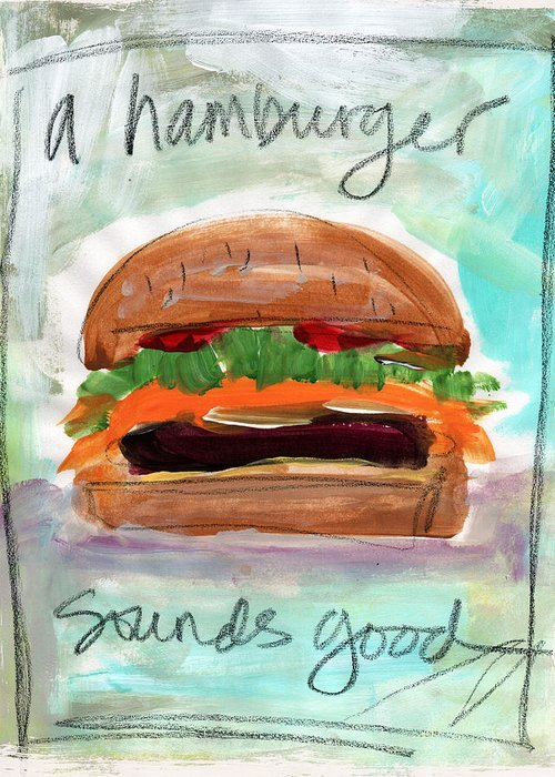 Hamburger Mixed Media Greeting Cards