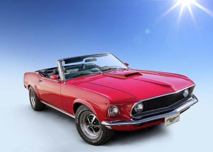 Red Convertibles Greeting Cards