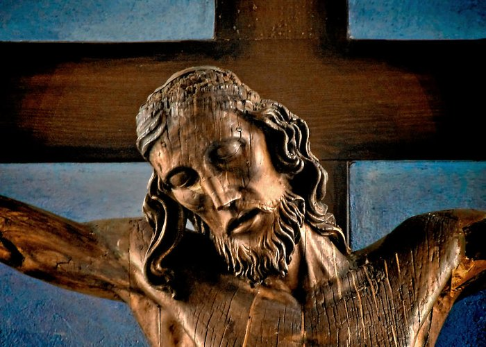 Easter Greeting Card featuring the photograph Good Friday Jesus On The Cross by Christine Till