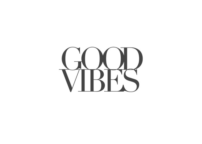 Word Art Greeting Card featuring the digital art Good Vibes by Cortney Herron
