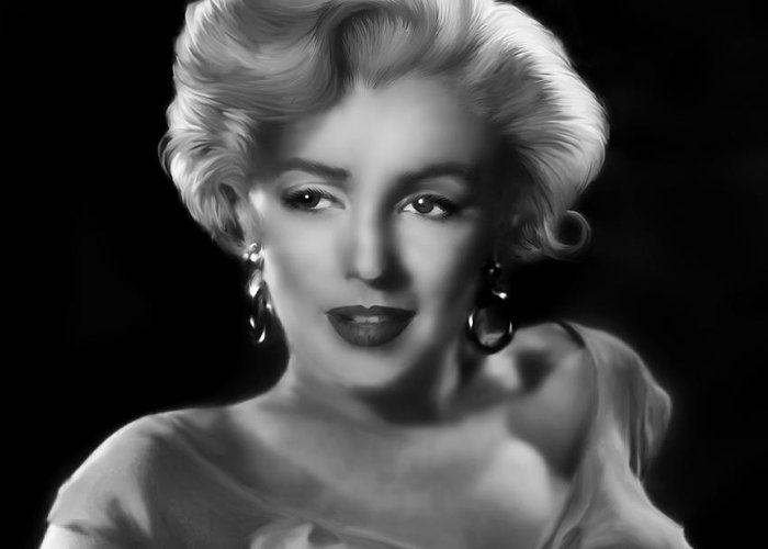 Marylin Monroe Greeting Card featuring the digital art Goodbye Norma Jean by Julie L Hoddinott