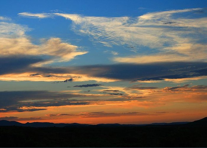 Sunsets Greeting Card featuring the photograph Goodnight Arizona by Gary Kaylor