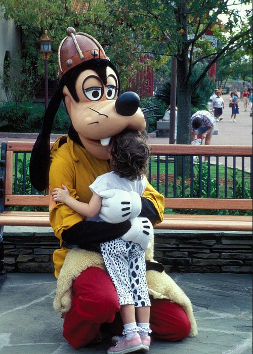 Disney Greeting Card featuring the photograph Goofy Love by Carl Purcell