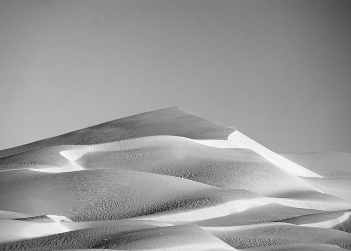 Black & White Greeting Card featuring the photograph Gordon Wells Dunes by Peter Tellone