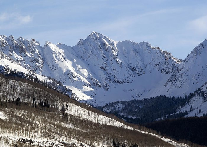Colorado Greeting Card featuring the photograph Gore Mountain Range Colorado by Brendan Reals