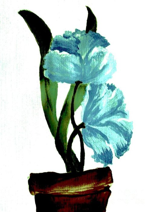 Painting Greeting Card featuring the painting Gorgeous Flowers by Marsha Heiken