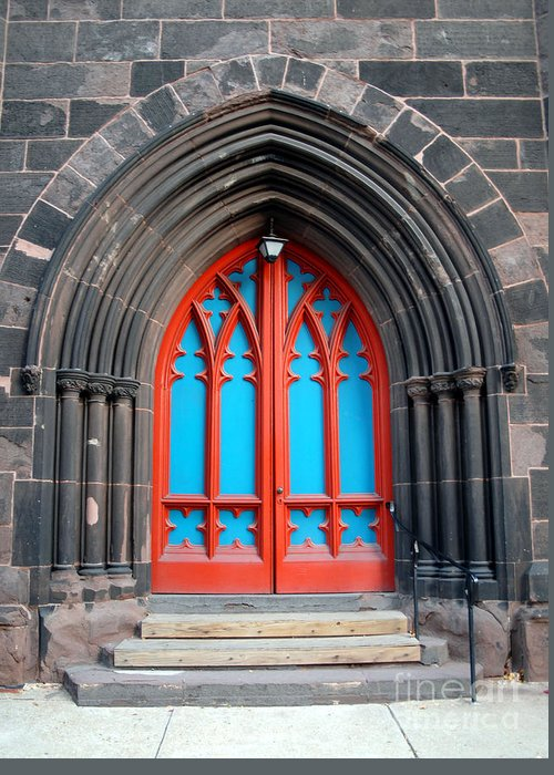 Architecture Greeting Card featuring the photograph Gothic Church Door by Walter Oliver Neal