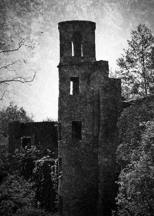 Irish Greeting Card featuring the photograph Gothic Tower At Blarney Castle Ireland by Teresa Mucha