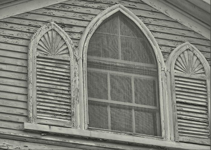 Nantucket Greeting Card featuring the photograph Nantucket Gothic Window by JAMART Photography