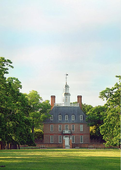 Colonial Williamsburg Photograph Greeting Card featuring the photograph Governor Palace - Williamsburg by Panos Trivoulides