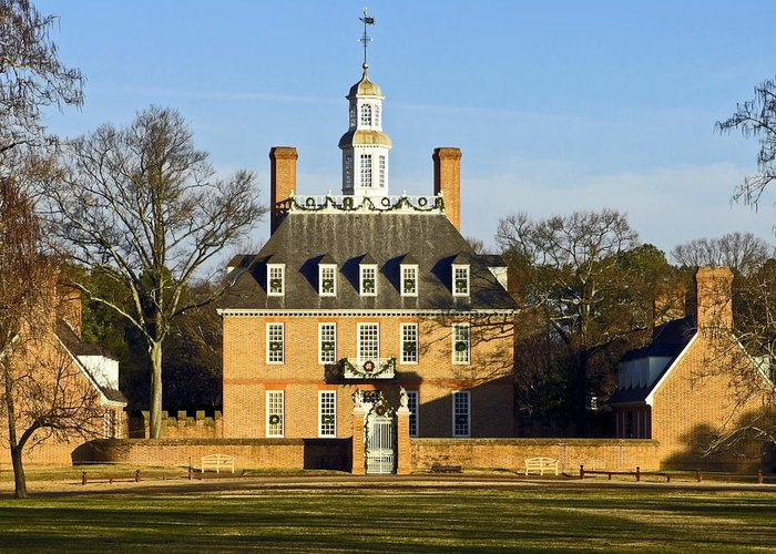 Governor's Palace Greeting Card featuring the photograph Governor's Palace Williamsburg by Sally Weigand