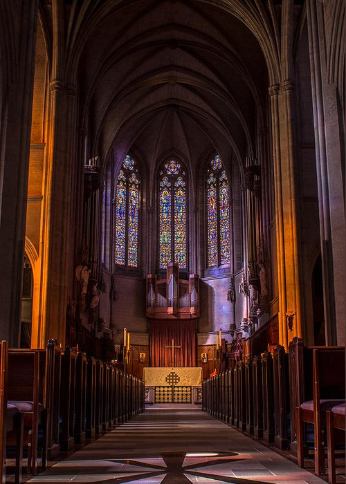 Church Christian Greeting Card featuring the photograph Grace Cathedral by Ian Aldridge