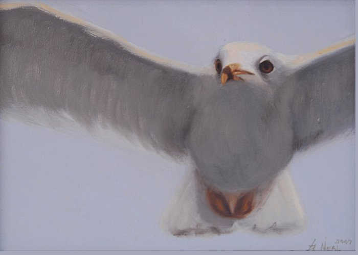 Painting Greeting Card featuring the painting Graceful by Greg Neal