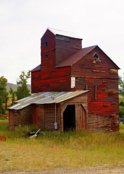 Grane Elevator Greeting Card featuring the photograph Grain Elevator by Marty Koch