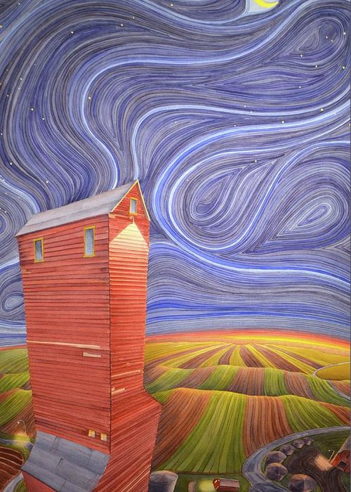 Grain Elevator Greeting Cards