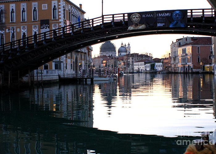 Venice Greeting Card featuring the photograph Grand Canal In Venice At Sunrise by Michael Henderson