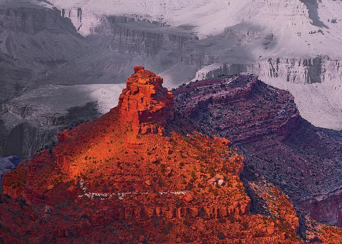Arizona Greeting Card featuring the photograph Grand Canyon In Red And Blue by Viktor Savchenko